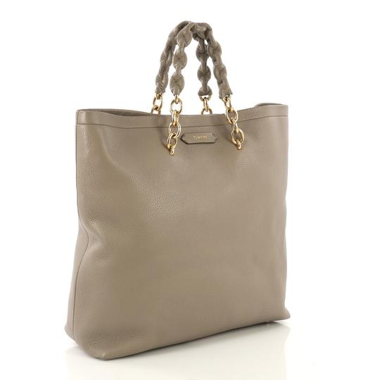 Tom Ford Leather Tote in taupe Image 2