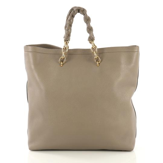 Tom Ford Leather Tote in taupe Image 3