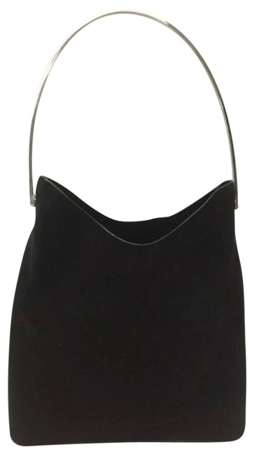Item - Tote Looping Bucket Bundle-lot-gucci Tote Bag+zippypouch Black/Silver Suede Leather Hobo Bag