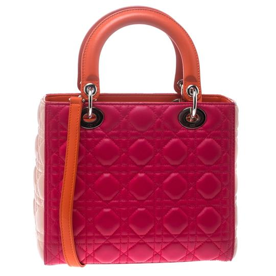 Dior Leather Tote in Multicolor Image 1