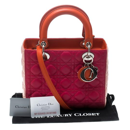 Dior Leather Tote in Multicolor Image 11