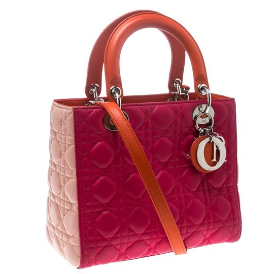 Dior Leather Tote in Multicolor Image 3
