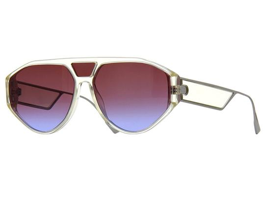 Dior DIOR DIORCLAN1-040G/YB YELLOW CRYSTAL / RED BLUE GRADIENT SUNGLASSES Image 2