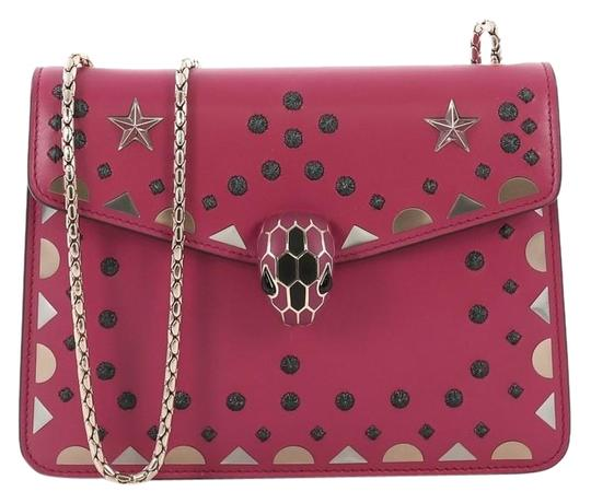 Preload https://img-static.tradesy.com/item/25519632/bvlgari-serpenti-forever-square-laser-cut-small-fuchsia-leather-shoulder-bag-0-1-540-540.jpg