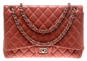 Chanel Leather Quilted Maxi Classic Shoulder Bag