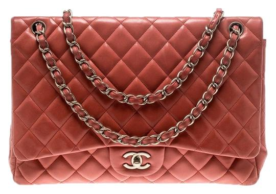 Chanel Leather Quilted Maxi Classic Shoulder Bag Image 0