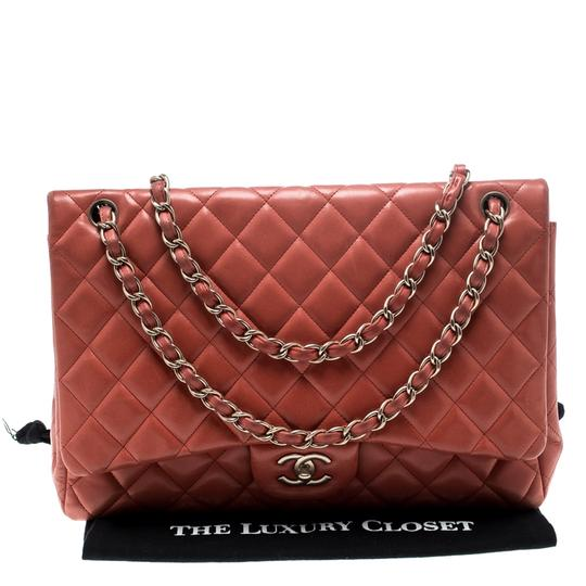 Chanel Leather Quilted Maxi Classic Shoulder Bag Image 10