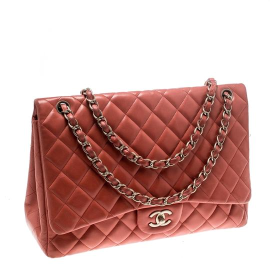 Chanel Leather Quilted Maxi Classic Shoulder Bag Image 3