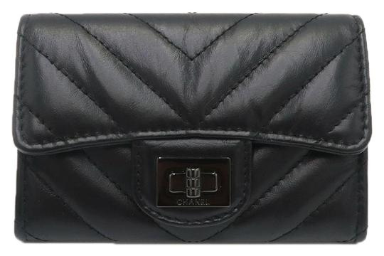 Chanel Chanel So Black Chevron Flap Cardholder Image 0