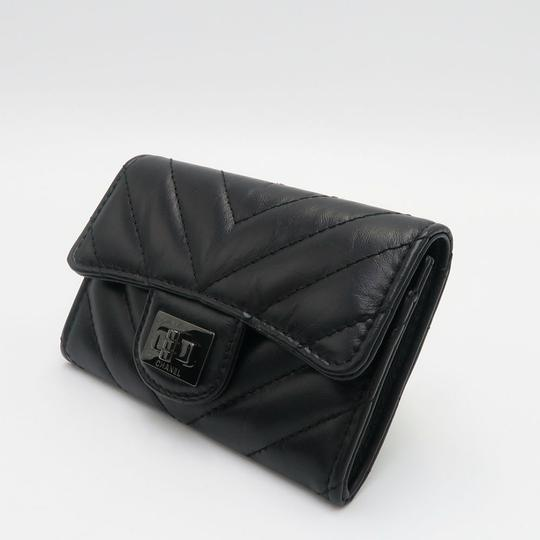 Chanel Chanel So Black Chevron Flap Cardholder Image 5