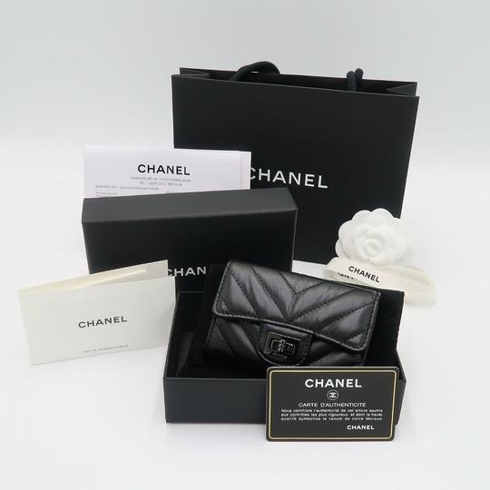 Chanel Chanel So Black Chevron Flap Cardholder Image 7