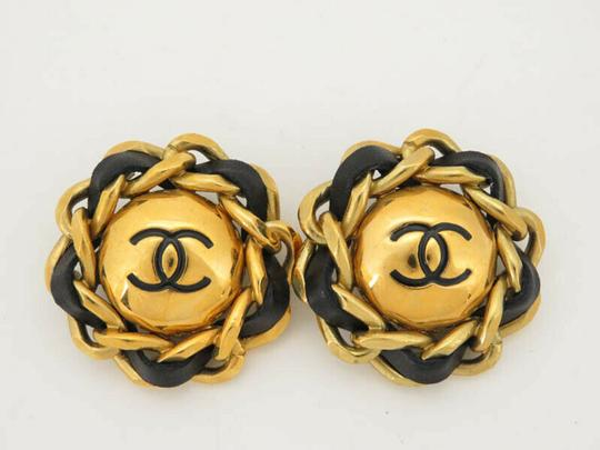 Chanel AUTH CHANEL CC CHAIN ROUND EARRINGS EY205 Image 1