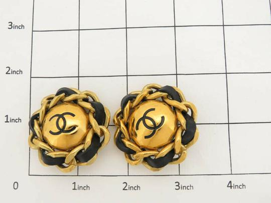 Chanel AUTH CHANEL CC CHAIN ROUND EARRINGS EY205 Image 2
