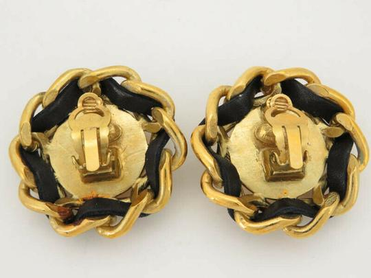 Chanel AUTH CHANEL CC CHAIN ROUND EARRINGS EY205 Image 3