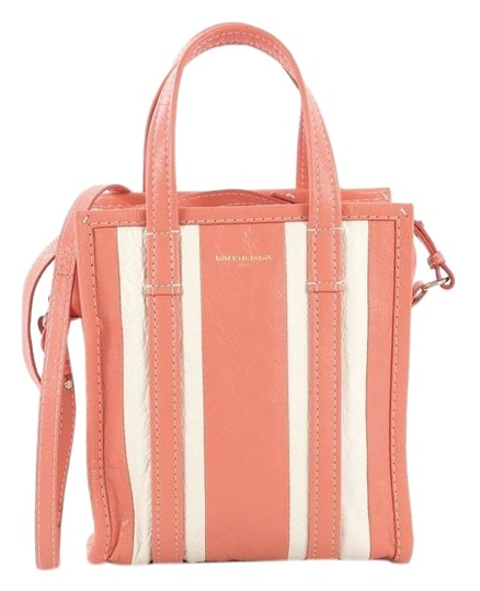 Preload https://img-static.tradesy.com/item/25519675/balenciaga-xs-bazar-convertible-striped-pink-and-white-leather-tote-0-1-540-540.jpg