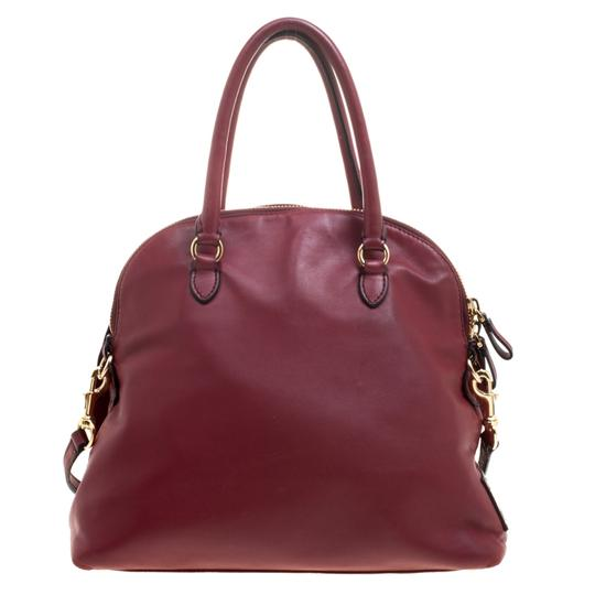 Valentino Leather Satin Satchel in Red Image 1