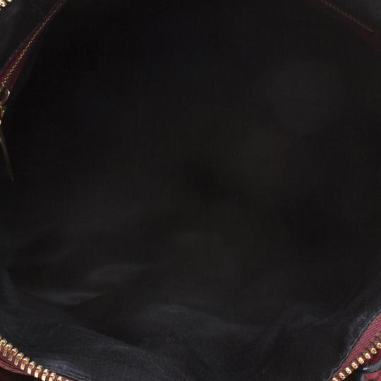 Valentino Leather Satin Satchel in Red Image 5