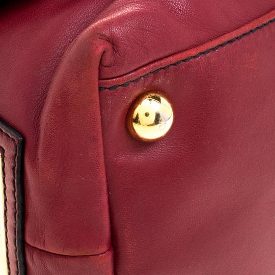 Valentino Leather Satin Satchel in Red Image 7