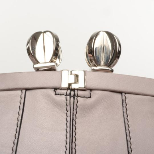 Valentino Leather Pleated Satchel in Purple Image 5