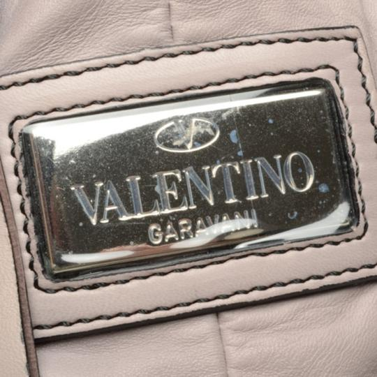 Valentino Leather Pleated Satchel in Purple Image 8