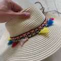 Boutique colored tassel and braided hat Image 2