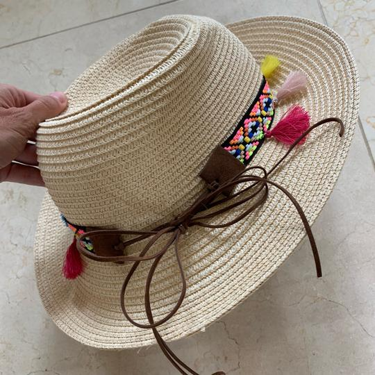 Boutique colored tassel and braided hat Image 3