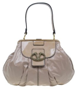 Valentino Leather Patent Leather Hobo Bag