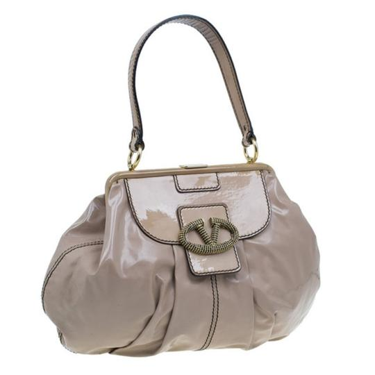Valentino Leather Patent Leather Hobo Bag Image 3
