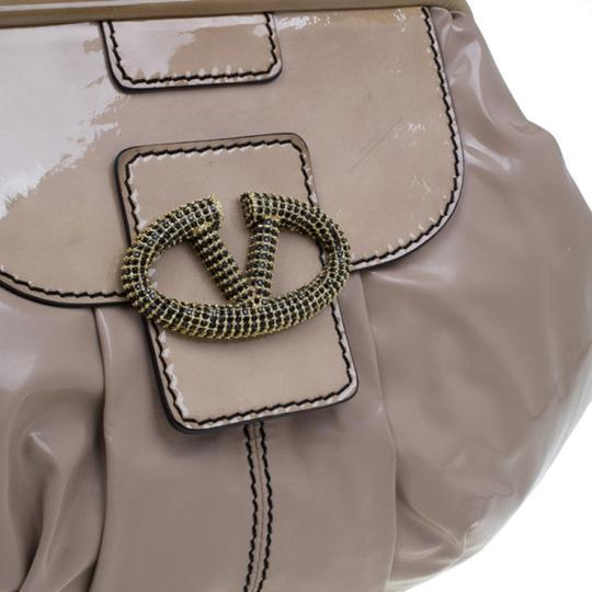 Valentino Leather Patent Leather Hobo Bag Image 9