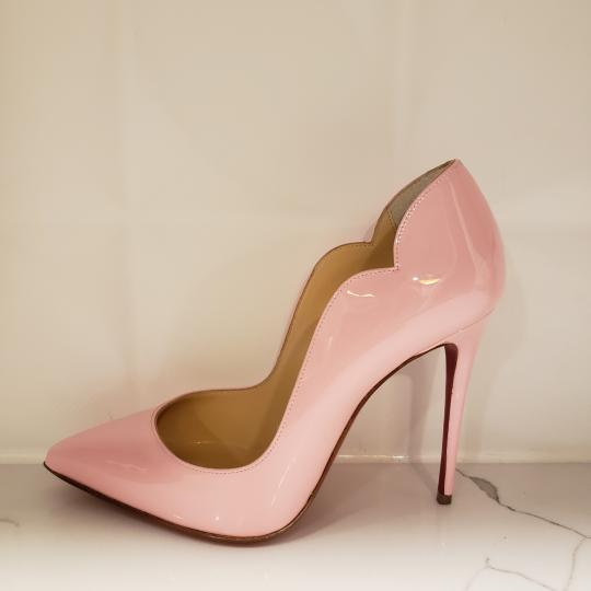 Christian Louboutin Pigalle Follies Patent Leather Heels Hot Chick Scallop Pink Pumps Image 3