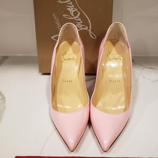 Christian Louboutin Pigalle Follies Patent Leather Heels Hot Chick Scallop Pink Pumps Image 5