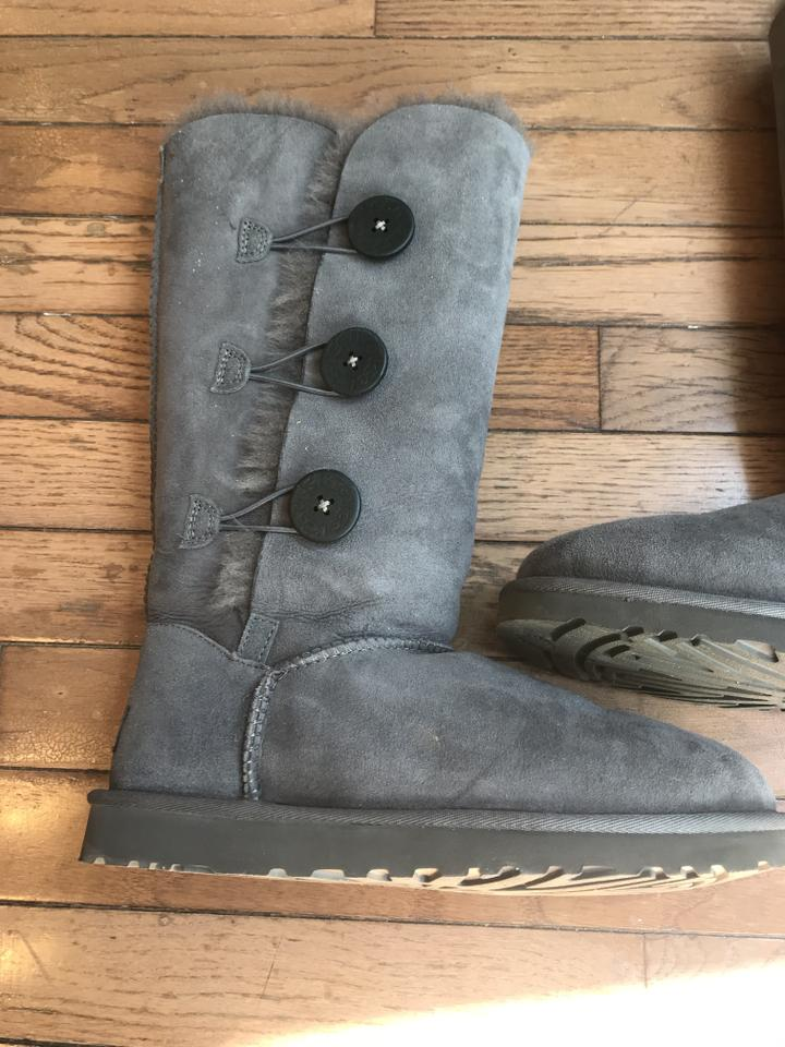 12ee09eb46a UGG Australia Gray Women's Bailey Button Triplet Ii Sheepskin In  Boots/Booties Size US 8 Regular (M, B) 59% off retail