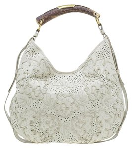 d64713f8a64 Saint Laurent Leather Satin Paris Limited Edition Hobo Bag