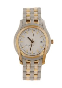 Gucci and Silver Two Tone Watch