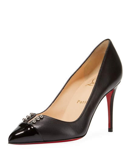 Preload https://img-static.tradesy.com/item/25520333/christian-louboutin-black-predupump-85-leather-studded-patent-cap-heels-pumps-size-eu-37-approx-us-7-0-0-540-540.jpg