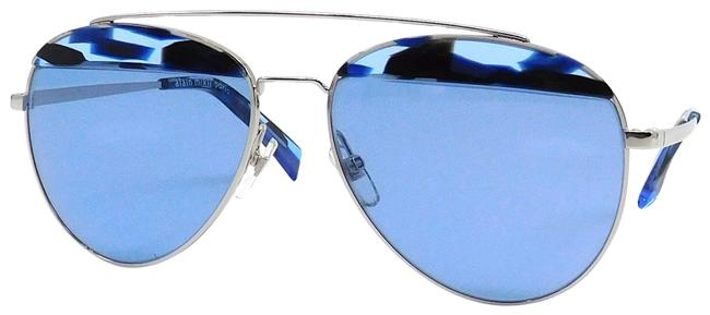 "Item - Blue & Silver ""Paon"" Sunglasses"