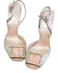 Rene Caovilla Pink and Gold Formal
