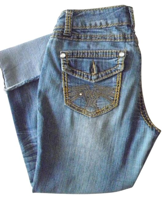 Item - Blue Distressed Relaxed Fit Capri/Cropped Jeans Size 30 (6, M)