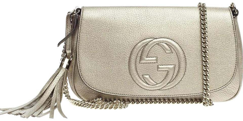 e1734e49a Gucci Soho Women's Gg Chain Leather Cross Body Bag - Tradesy