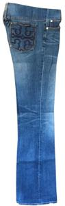 Tory Burch Embroidered Boot Cut Jeans