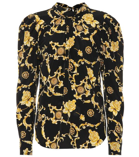 Item - Black and Gold Mena Medalion Print Button-down Top Size 0 (XS)