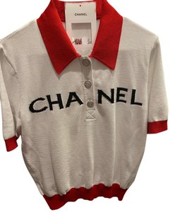 Chanel Top white red