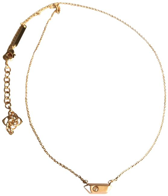 Item - Rose Gold Charly Crystal Stone Pendant Necklace