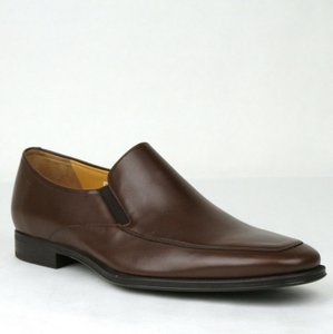 Bally Brown Calf Leather Slip On Loafers with Script Logo 10.5d Thor-131 Shoes