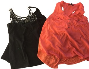 Rock & Republic Roll Price W Cut Outs With Pockets Like New Top 2 for 1, black and other coral