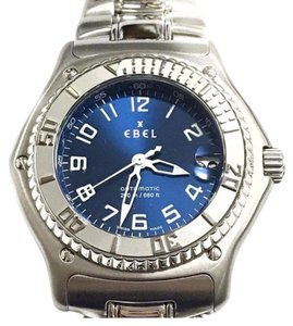 Ebel NEVER WORN Ebel Discovery Wristwatch Stainless Steel!! Blue Dial