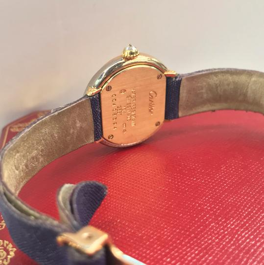 Cartier Vintage Round Trinity Diamond Watch On A Leather Strap 2357 Image 4