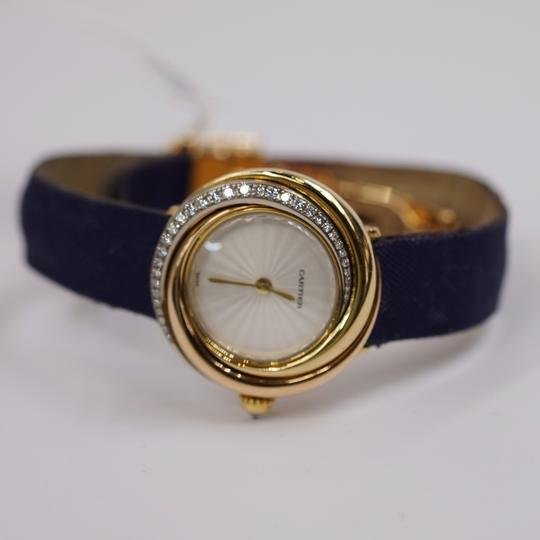 Cartier Vintage Round Trinity Diamond Watch On A Leather Strap 2357 Image 7