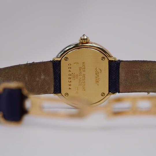 Cartier Vintage Round Trinity Diamond Watch On A Leather Strap 2357 Image 8