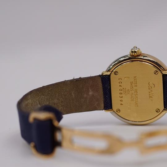 Cartier Vintage Round Trinity Diamond Watch On A Leather Strap 2357 Image 9